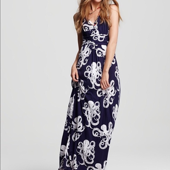 6182984ffc Lilly Pulitzer Navy Blue Octopus Maxi dress. M_5b60aa3d5bbb807d9e25ac76